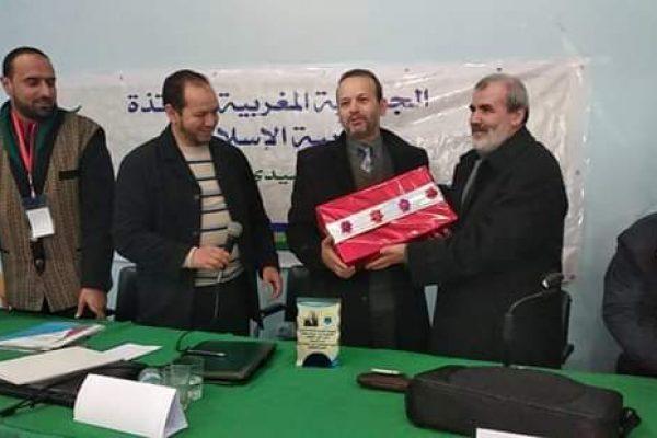 رئيس الجمعية يشرف على تكريم الاستاذ احمد العبودي بفرع  سيدي قاسم